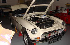 '63 MGB in for repair